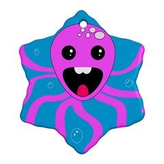 Bubble Octopus Snowflake Ornament (2-Side)
