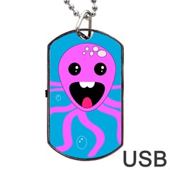 Bubble Octopus Dog Tag Usb Flash (two Sides)