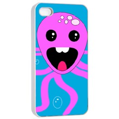 Bubble Octopus Apple Iphone 4/4s Seamless Case (white)