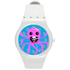 Bubble Octopus Round Plastic Sport Watch (m)