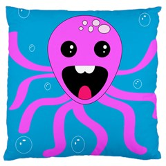 Bubble Octopus Large Cushion Case (one Side)
