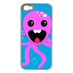 Bubble Octopus Apple Iphone 5 Case (silver)