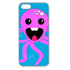 Bubble Octopus Apple Seamless iPhone 5 Case (Clear)
