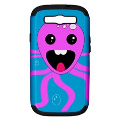 Bubble Octopus Samsung Galaxy S III Hardshell Case (PC+Silicone)