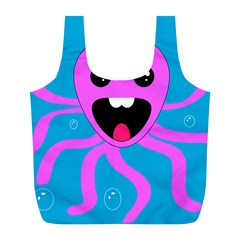 Bubble Octopus Full Print Recycle Bags (L)