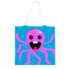 Bubble Octopus Grocery Light Tote Bag