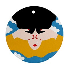 Close Your Eyes Ornament (Round)