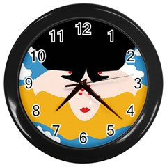Close Your Eyes Wall Clocks (Black)