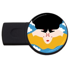 Close Your Eyes USB Flash Drive Round (1 GB)