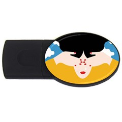 Close Your Eyes USB Flash Drive Oval (1 GB)