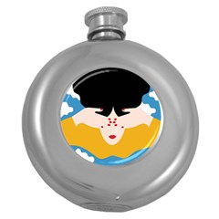 Close Your Eyes Round Hip Flask (5 oz)