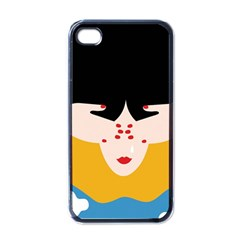 Close Your Eyes Apple iPhone 4 Case (Black)