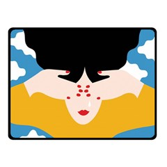 Close Your Eyes Double Sided Fleece Blanket (Small)