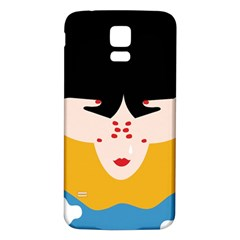 Close Your Eyes Samsung Galaxy S5 Back Case (White)