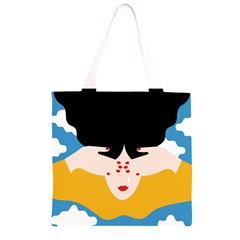 Close Your Eyes Grocery Light Tote Bag