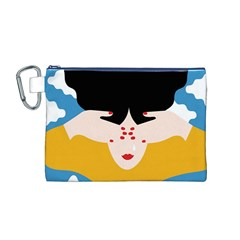Close Your Eyes Canvas Cosmetic Bag (M)