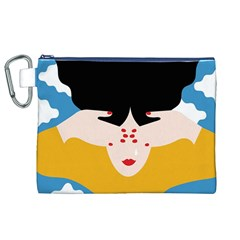 Close Your Eyes Canvas Cosmetic Bag (XL)