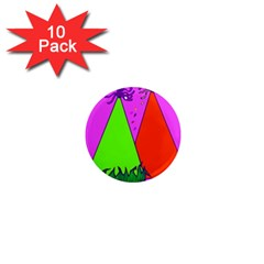 Birthday Hat Party 1  Mini Magnet (10 pack)
