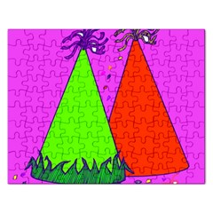 Birthday Hat Party Rectangular Jigsaw Puzzl