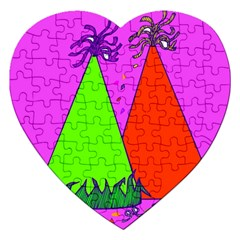 Birthday Hat Party Jigsaw Puzzle (Heart)