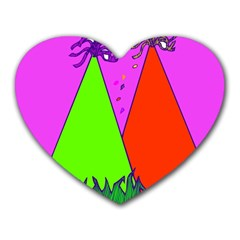 Birthday Hat Party Heart Mousepads