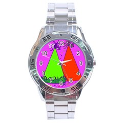 Birthday Hat Party Stainless Steel Analogue Watch
