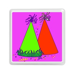 Birthday Hat Party Memory Card Reader (Square)