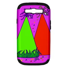 Birthday Hat Party Samsung Galaxy S III Hardshell Case (PC+Silicone)