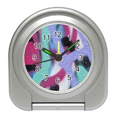 Texture Pattern Abstract Background Travel Alarm Clocks