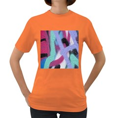 Texture Pattern Abstract Background Women s Dark T-Shirt