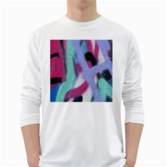 Texture Pattern Abstract Background White Long Sleeve T-Shirts