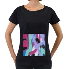 Texture Pattern Abstract Background Women s Loose-Fit T-Shirt (Black)