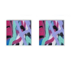 Texture Pattern Abstract Background Cufflinks (Square)