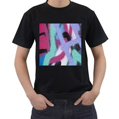 Texture Pattern Abstract Background Men s T-Shirt (Black)
