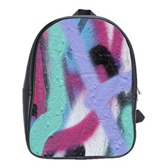 Texture Pattern Abstract Background School Bags (XL)