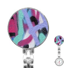 Texture Pattern Abstract Background Stainless Steel Nurses Watch