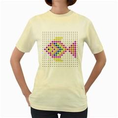 Colored Fish Women s Yellow T-Shirt