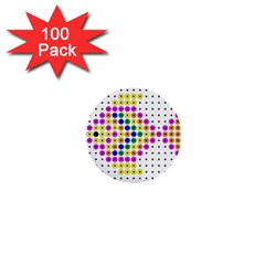 Colored Fish 1  Mini Buttons (100 pack)