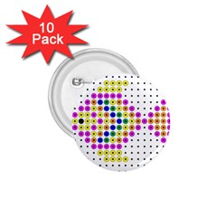 Colored Fish 1 75  Buttons (10 Pack)