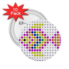 Colored Fish 2.25  Buttons (10 pack)