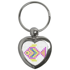 Colored Fish Key Chains (Heart)