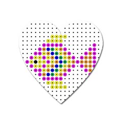 Colored Fish Heart Magnet