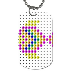 Colored Fish Dog Tag (One Side)