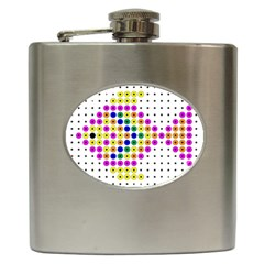 Colored Fish Hip Flask (6 oz)