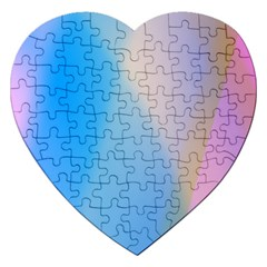 Twist Blue Pink Mauve Background Jigsaw Puzzle (Heart)