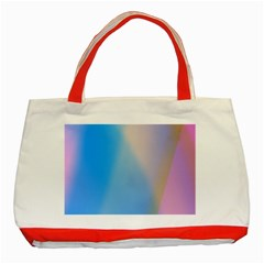 Twist Blue Pink Mauve Background Classic Tote Bag (Red)