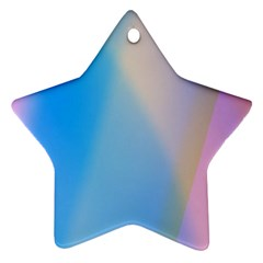 Twist Blue Pink Mauve Background Star Ornament (Two Sides)