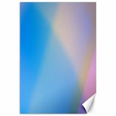 Twist Blue Pink Mauve Background Canvas 12  x 18