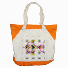 Colored Fish Accent Tote Bag