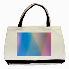 Twist Blue Pink Mauve Background Basic Tote Bag (Two Sides)